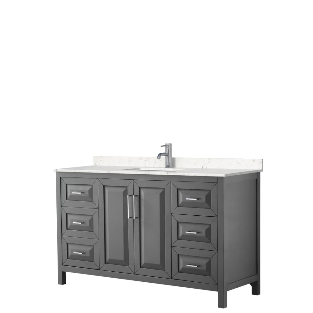 Vanity Set Wyndham WCV252560SKGC2UNSMXX Daria 60 Inch Single