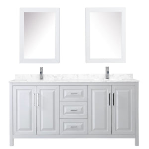 Vanity Set Wyndham WCV252572DWHC1UNSMED Daria 72 Inch Double