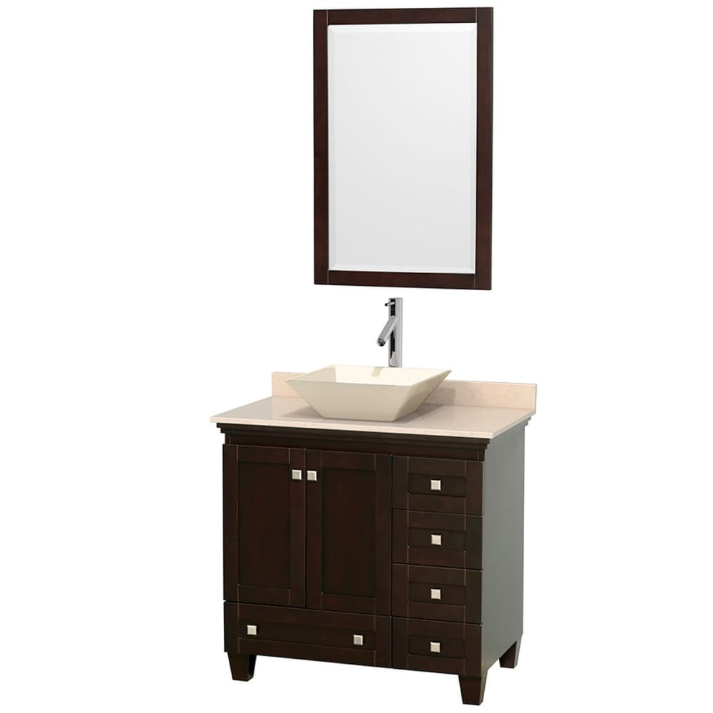Vanity Set Wyndham WCV800036SESIVD2BM24 Acclaim 36 Inch