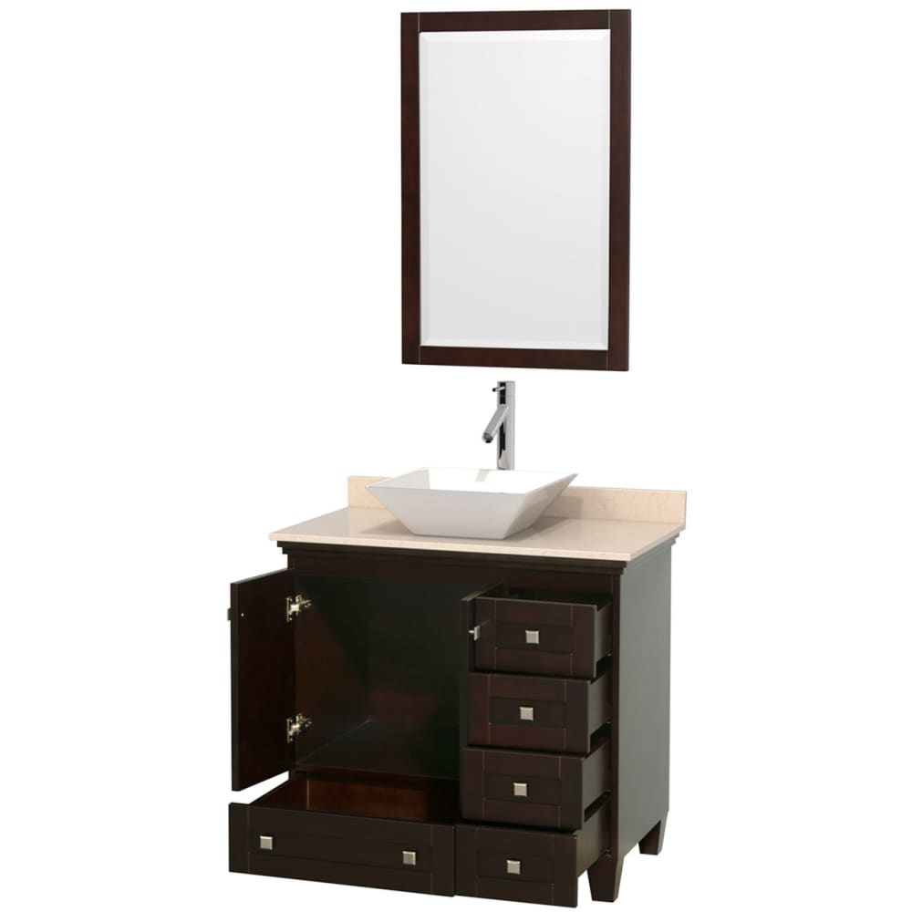 Vanity Set Wyndham WCV800036SESIVD2WM24 Acclaim 36 Inch