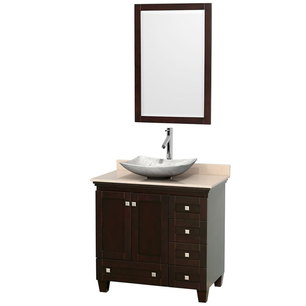 Vanity Set Wyndham WCV800036SESIVGS6M24 Acclaim 36 Inch