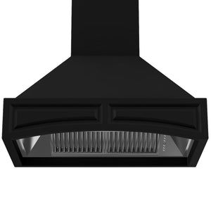 ZLINE 30 in. Wooden Wall Mount Range Hood in Black - Includes  Remote Motor