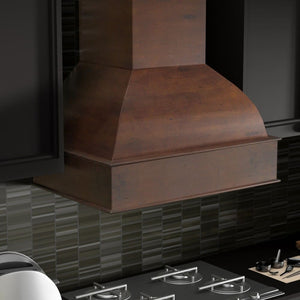 ZLINE 36 in. Wooden Wall Mount Range Hood in Walnut and Hamilton - Includes  Remote Motor