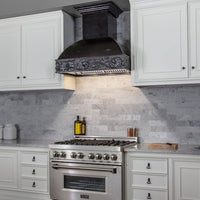 ZLINE 30 in. Wooden Wall Mount Range Hood in Antigua - Includes  Motor