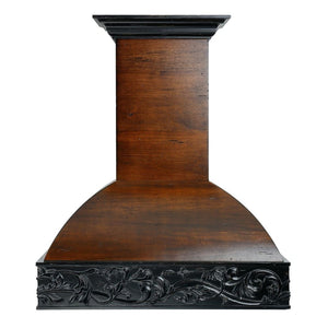 ZLINE 48 in. Wooden Wall Mount Range Hood in Antigua and Walnut - Includes  Remote Motor