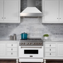 "30"" DuraSnow® Stainless Steel Range Hood with White Matte Shell (8654WM-30)"