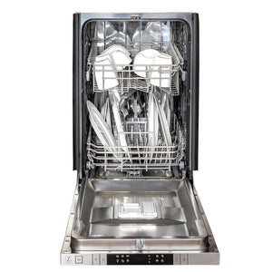 Zline 18 in. Top Control Dishwasher in Custom Panel Ready with Stainless Steel Tub DW7714-18