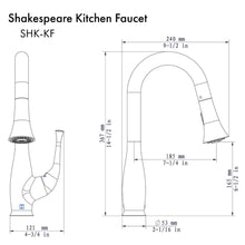 ZLINE Shakespeare Kitchen Faucet in Chrome (SHK-KF-CH)