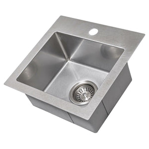 Farmhouse Sink Zline STS-15S Donner 15 Topmount Single Bowl