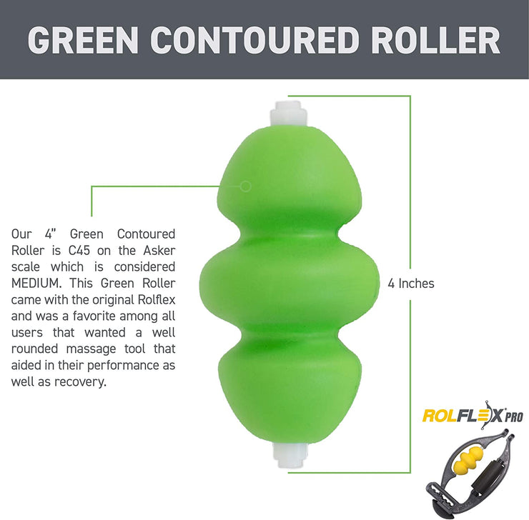Medium Density Green Contoured Foam Roller