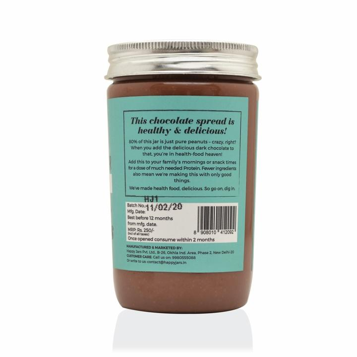 Happy Jars Dark Chocolate Peanut Butter (290g), 7g protein