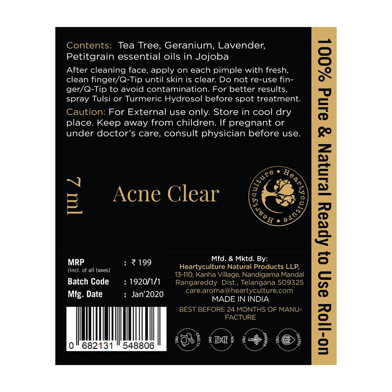 Heartyculture Acne Clear Roll-on - 7 ml