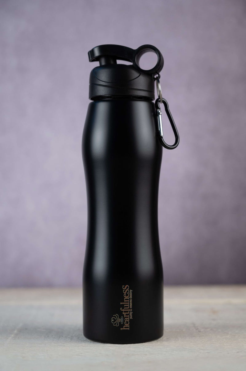 Heartfulness, stainless steel water bottle