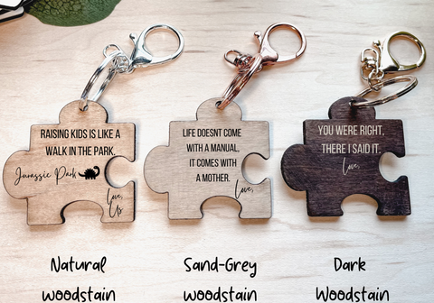 Wood Keychain with Key Ring