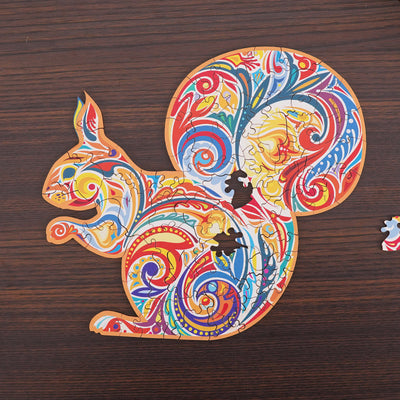 Animal Shaped Wooden Puzzles