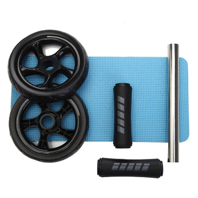 Keep Fit Wheels No Noise Abdominal Wheel Ab Roller With Mat For Exercise Fitness Equipment