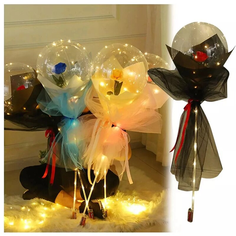 🌹 LED Rose Balloon Bouquet 🌹