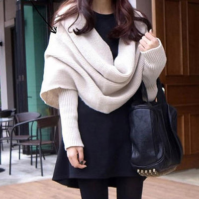 Chic Cross-Neck V Sweater