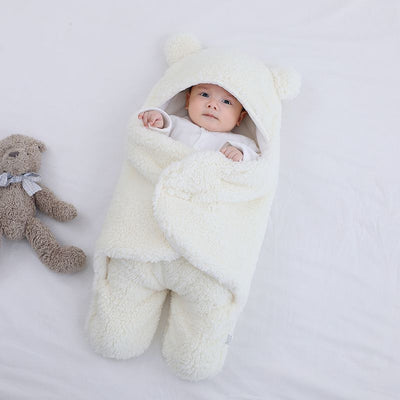 Baby Sleeping Bag Ultra-Soft Fluffy Fleece Newborn Receiving Blanket Infant Boys Girls ClothesSleeping Nursery Wrap Swaddle
