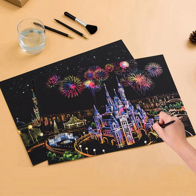 Magic Scratch Cityscape Painting
