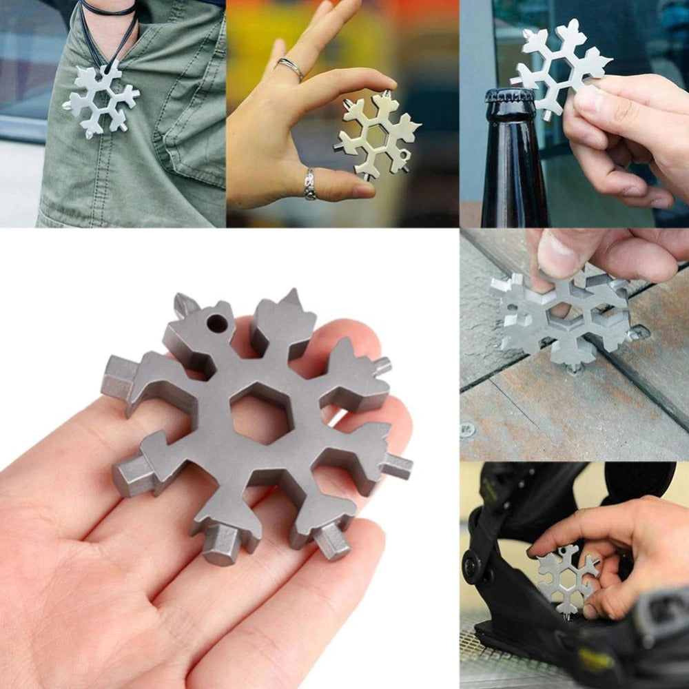 Ultimate 18-in-1 Stainless Steel Snowflake Multi Tool