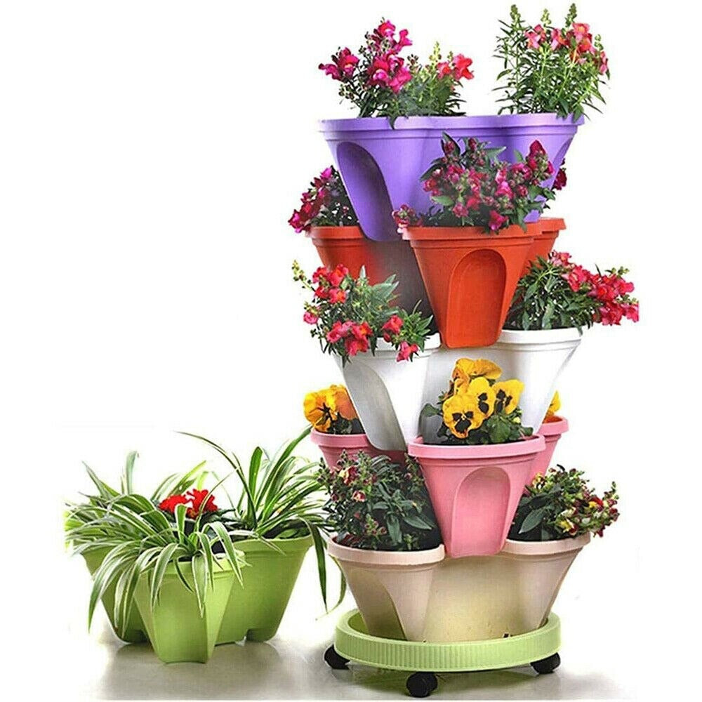 3-D Stacking Planting Pot
