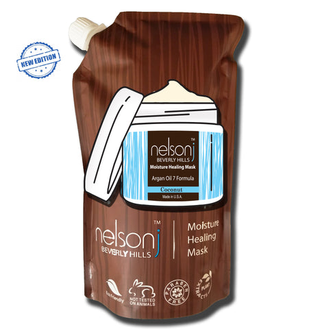 Treatment - Argan Oil 7 Moisture Healing Mask - Scent: Coconut - 24 oz - Eco-freindly Jumbo Pouch (NEW Edition - Just Arrived)!