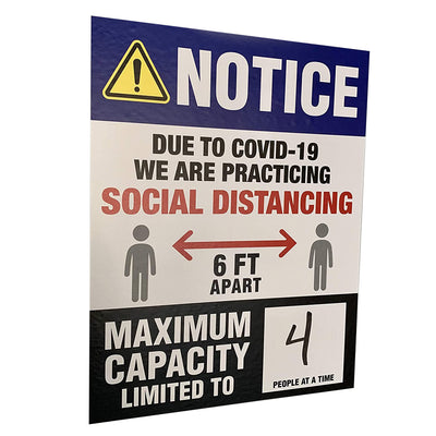 Max Capacity Social Distancing Wall Sign