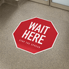 Hexagon Social Distancing Floor Signs (5-Pack) - Mask It Now