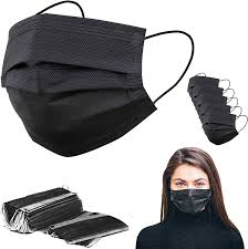 Black  Mask 3 ply 50 pcs Box
