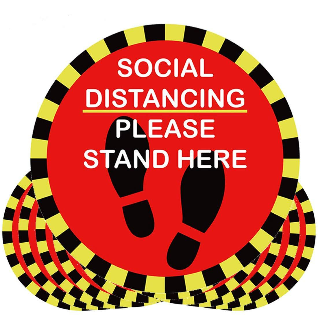 Max Capacity Signage & 5 Pack of Be Smart Social Distancing Floor Decals bundle - Mask It Now