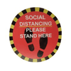 Please Stand Here: Social Distancing Floor Stickers (5-Pack) - Mask It Now