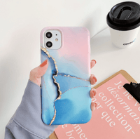 Soft Silicone Marble Crack Matte iPhone Cases