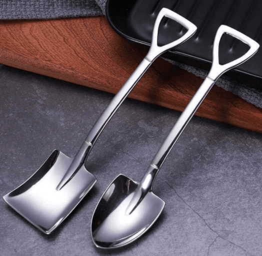 Sleek Shovel Spoons Set