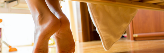 Sore feet when you wake up in the morning? Follow our tips for quick results and pain free feet!