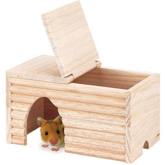 Marukan Natural Wood House for Syrian Hamster