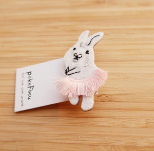 The Burrow Animal Embroidered Pin - Rabbit in Tutu