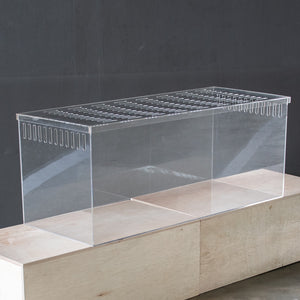 The Burrow Hamster Habitat in 4mm Thick Acrylic (Fixed) - With Lid