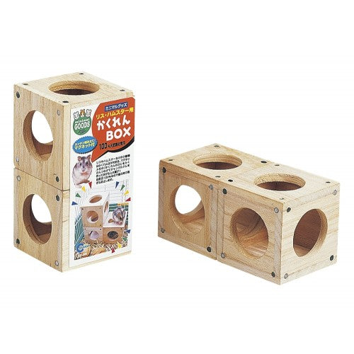 Marukan Wooden Hiding Box (2 blocks per pack)