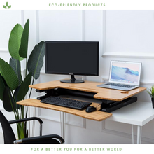 Load image into Gallery viewer, Bamboo Foldable Standing Desk