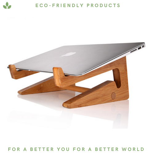 Bamboo Laptop Stand - Portable