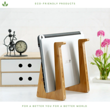 Load image into Gallery viewer, Bamboo Laptop Stand - Portable
