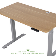 Load image into Gallery viewer, Bamboo Electric Standing Desk