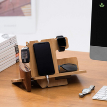 Load image into Gallery viewer, Bamboo Multiple Docking Station