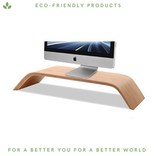 Load image into Gallery viewer, Bamboo Monitor Stand - Minimalist