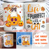 Life Is Purrfect With A Cat – Personalized Custom Coffee Mug