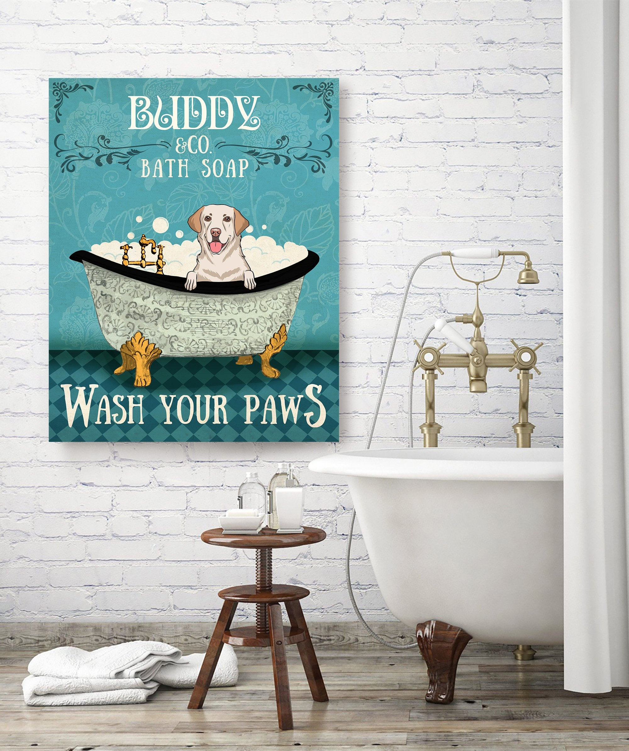 Dog Bath Soap Co. - Personalized Custom Canvas