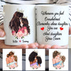 Daughter Mom - Straighten Your Crown - Personalized custom mug