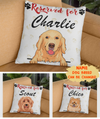 Reserved For Dog - Personalized Custom Linen Pillow