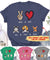 Peace Love Dog - 3 Dogs - Personalized Custom T-shirt